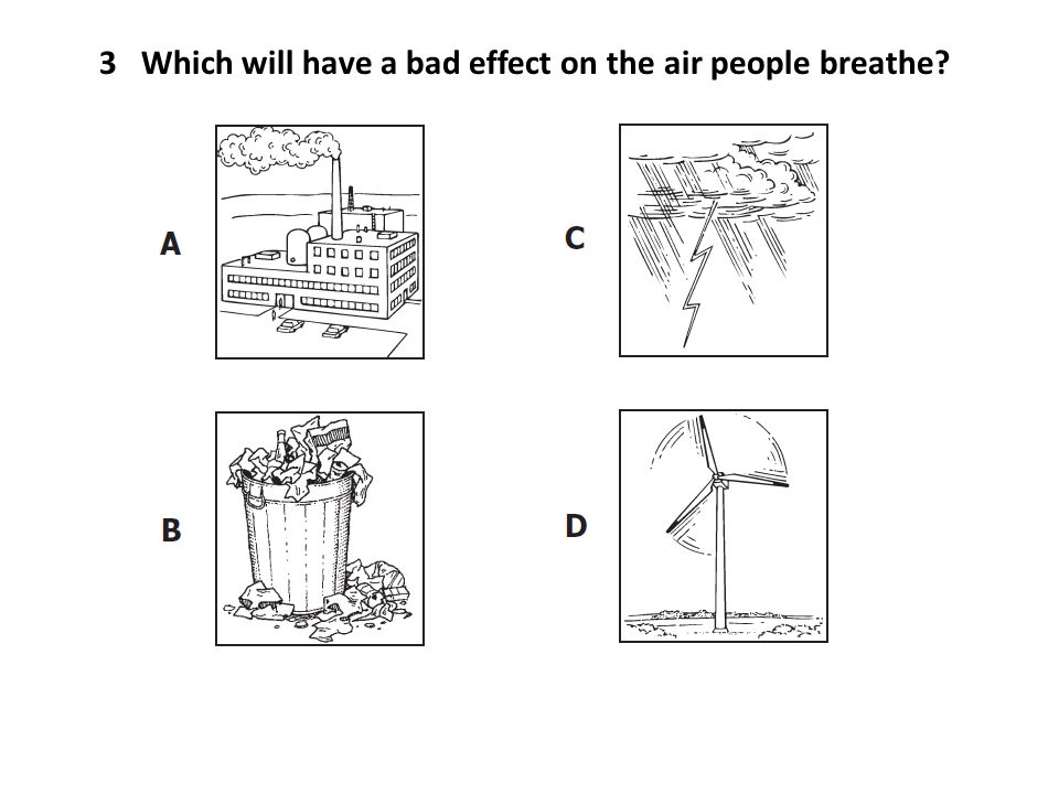 3 Which will have a bad effect on the air people breathe?