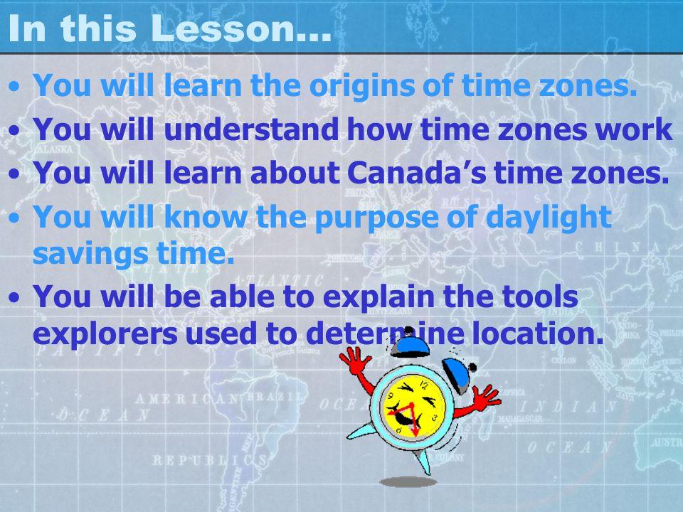 Time Zones Lesson Socials 8 Mr. Goldsack