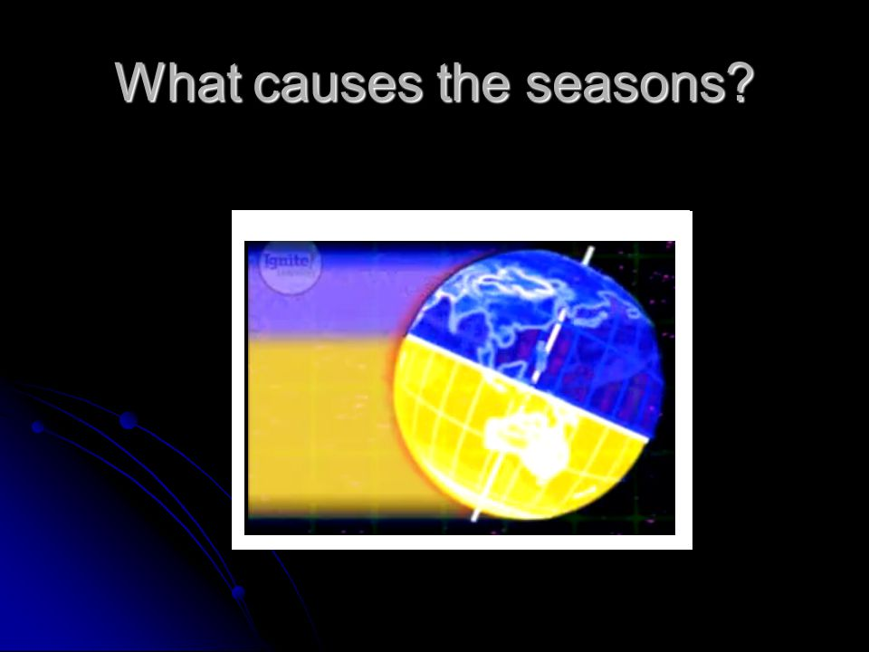 What causes the seasons?