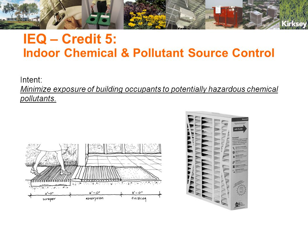 Intent: Minimize exposure of building occupants to potentially hazardous chemical pollutants.