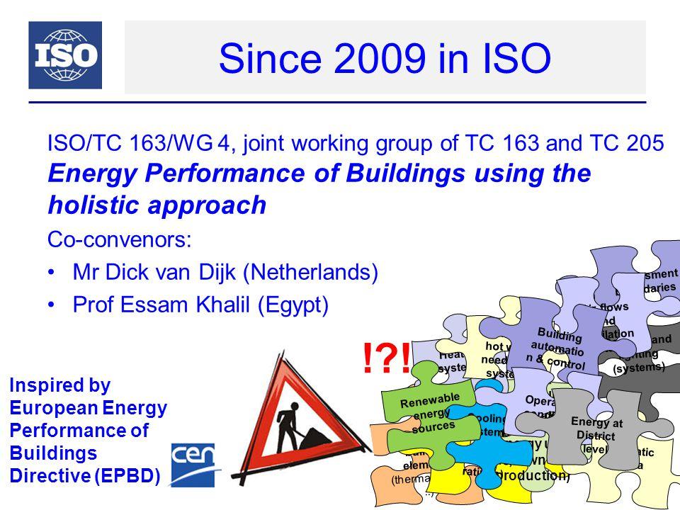 Work in progress Set of EN ISO standards on Energy Performance of Buildings (EPB): ISO 52000 series ISO 52000 ISO 52001 ISO 52003 ISO 52004 … ISO 52009 ISO 52010..