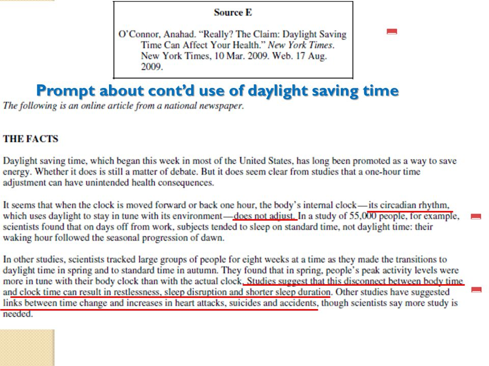 Prompt about cont'd use of daylight saving time