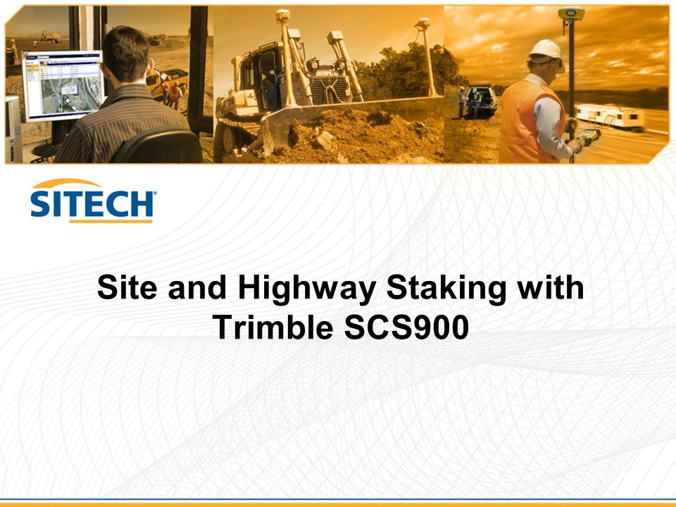 Benefits of doing your own stakeout  Stakeout has historically been labor intensive –Multiple person crews  Using Trimble technology reduces labor –Allows single person crews for  GPS (SPSx81)  Robotic Total Station (SPSx30)  Reduces cost –Reduces need for subcontracted layout  Reduces downtime –No need to schedule or wait for crews to arrive  Puts the power of data in your hands –Documentation of stake positions and accuracy