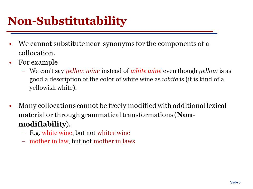 Slide 16 Finding collocations based on mean and variance
