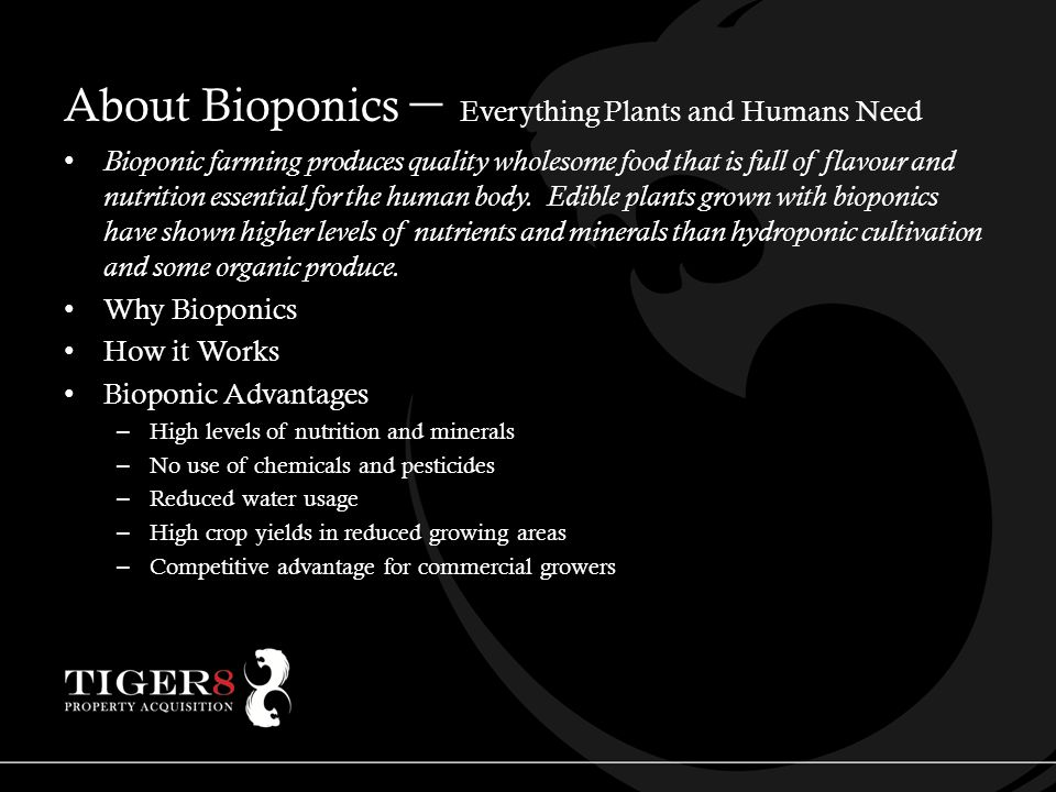 About Bioponics – Everything Plants and Humans Need Bioponic farming produces quality wholesome food that is full of flavour and nutrition essential for the human body.