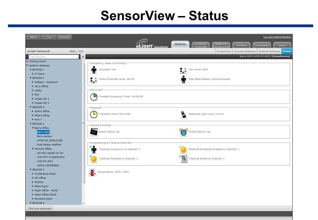 SensorView – Status