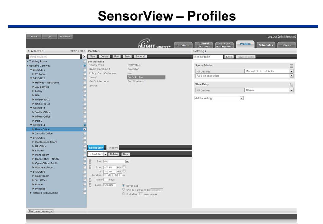 SensorView – Profiles
