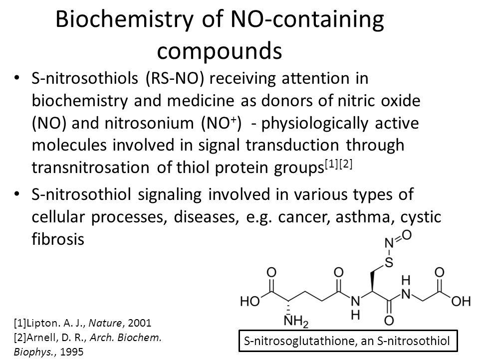 NO and S-nitrosothiols UV spectrum of synthetic GSNO [4] [3] Veleeparampil, M., Adv.