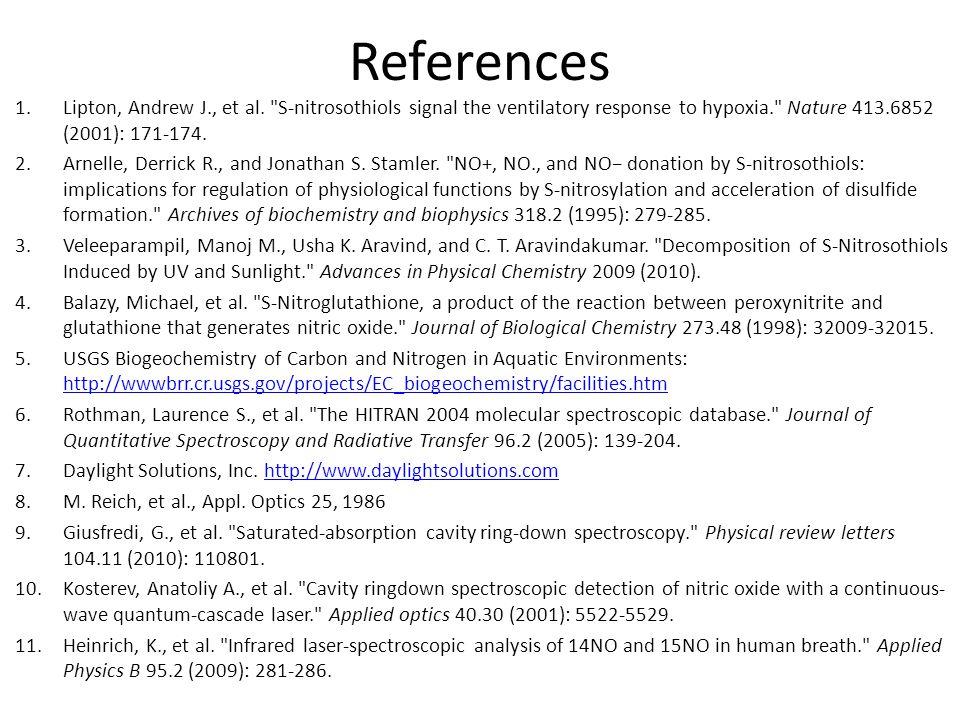 References 1.Lipton, Andrew J., et al.