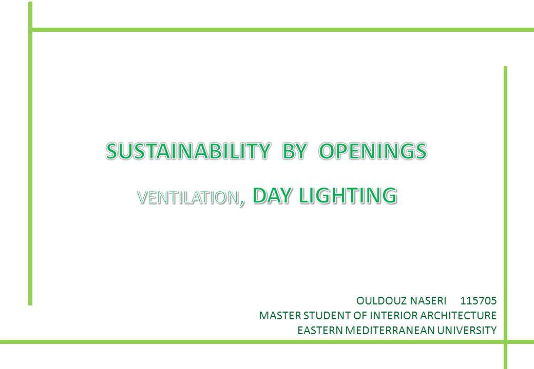 OULDOUZ NASERI 115705 MASTER STUDENT OF INTERIOR ARCHITECTURE EASTERN MEDITERRANEAN UNIVERSITY