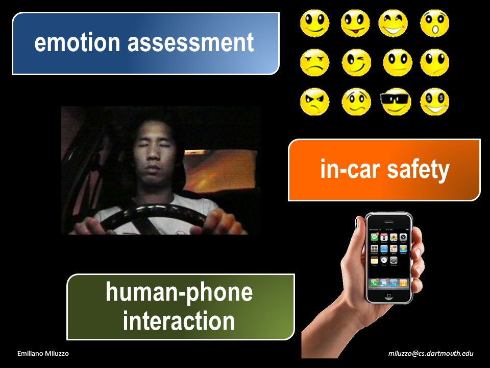 miluzzo@cs.dartmouth.eduEmiliano Miluzzo emotion assessment human-phone interaction in-car safety