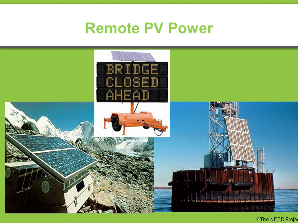 Remote PV Power © The NEED Project
