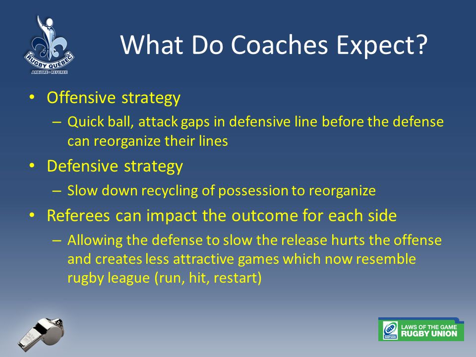 What Do Coaches Expect.