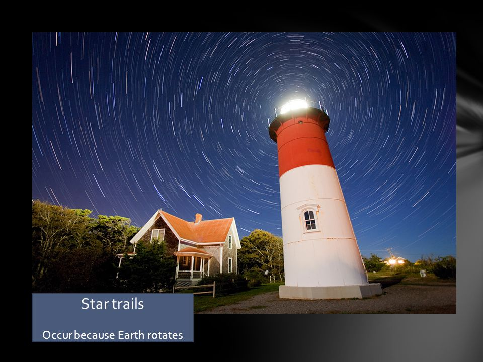 Star trails Occur because Earth rotates