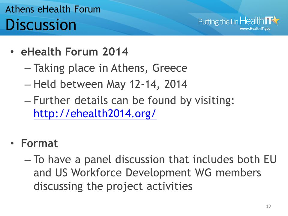 eHealth Forum 2014 – Taking place in Athens, Greece – Held between May 12-14, 2014 – Further details can be found by visiting: http://ehealth2014.org/