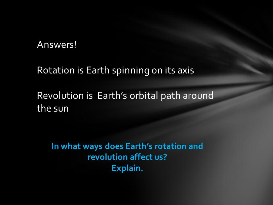 Answers.