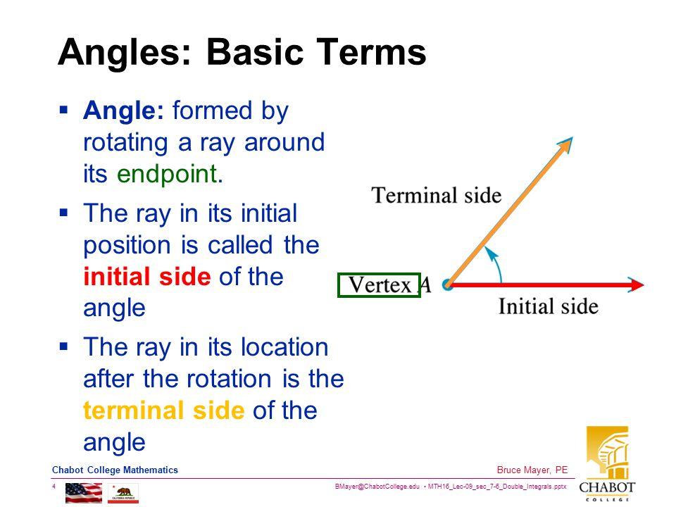 BMayer@ChabotCollege.edu MTH16_Lec-09_sec_7-6_Double_Integrals.pptx 15 Bruce Mayer, PE Chabot College Mathematics The 16-Point Unit Circle