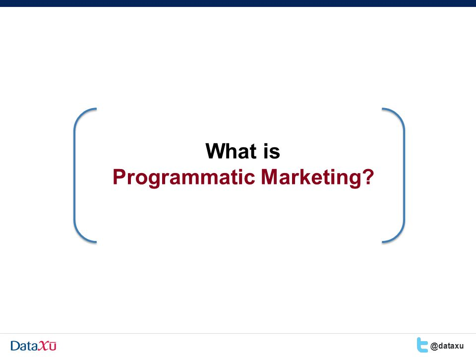 What is Programmatic Marketing @dataxu