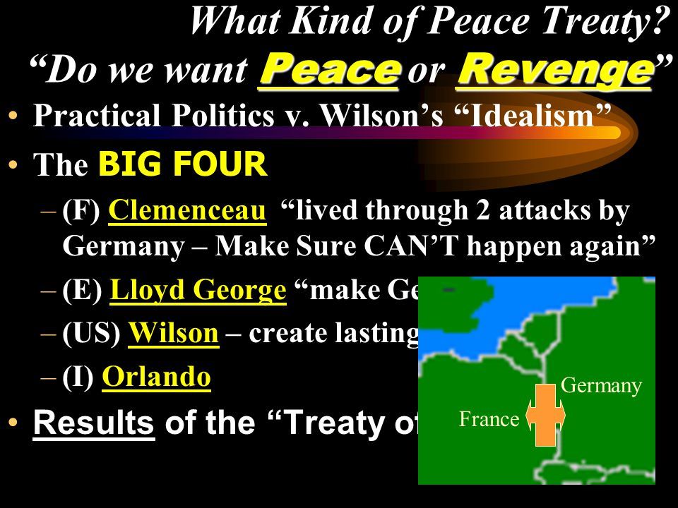 PeaceRevenge What Kind of Peace Treaty. Do we want Peace or Revenge Practical Politics v.
