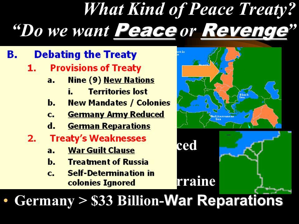 PeaceRevenge What Kind of Peace Treaty.