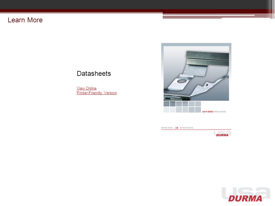 Learn More Datasheets View Online Printer-Friendly Version