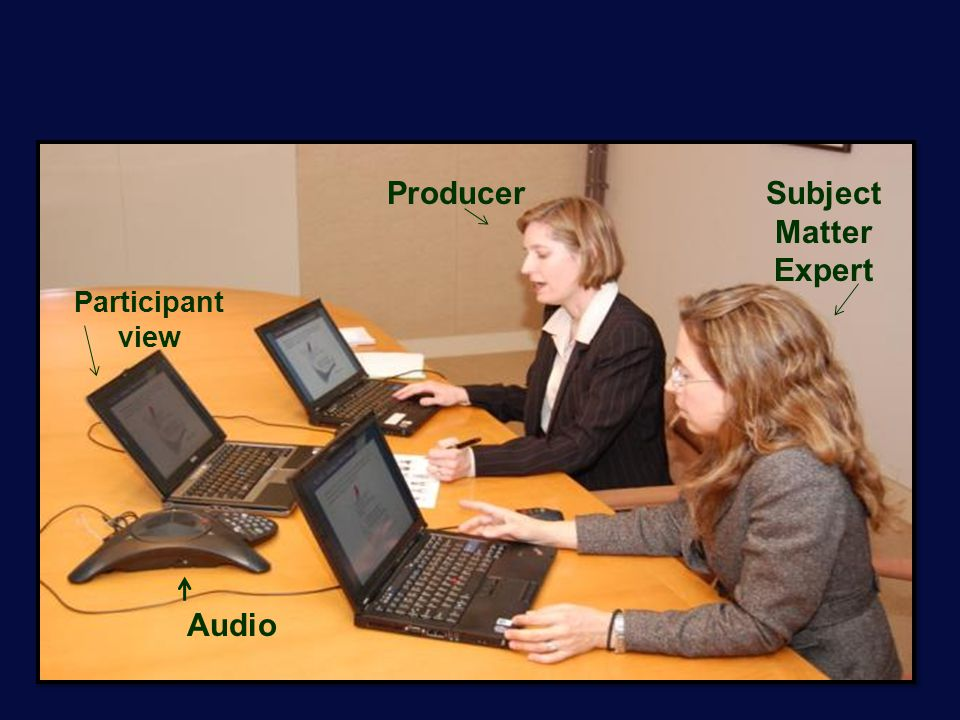 Web Conference Participant view ProducerSubject Matter Expert Audio
