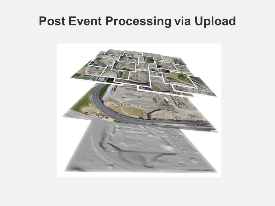 Post Event Processing via Upload