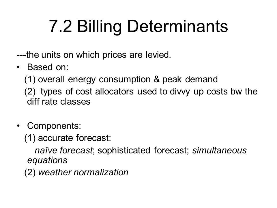(3) Block tariffs: --distribute the price among blocks of consumption.