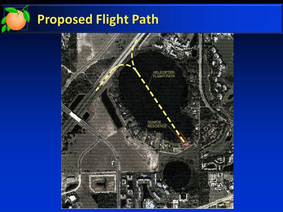 Proposed Flight Path