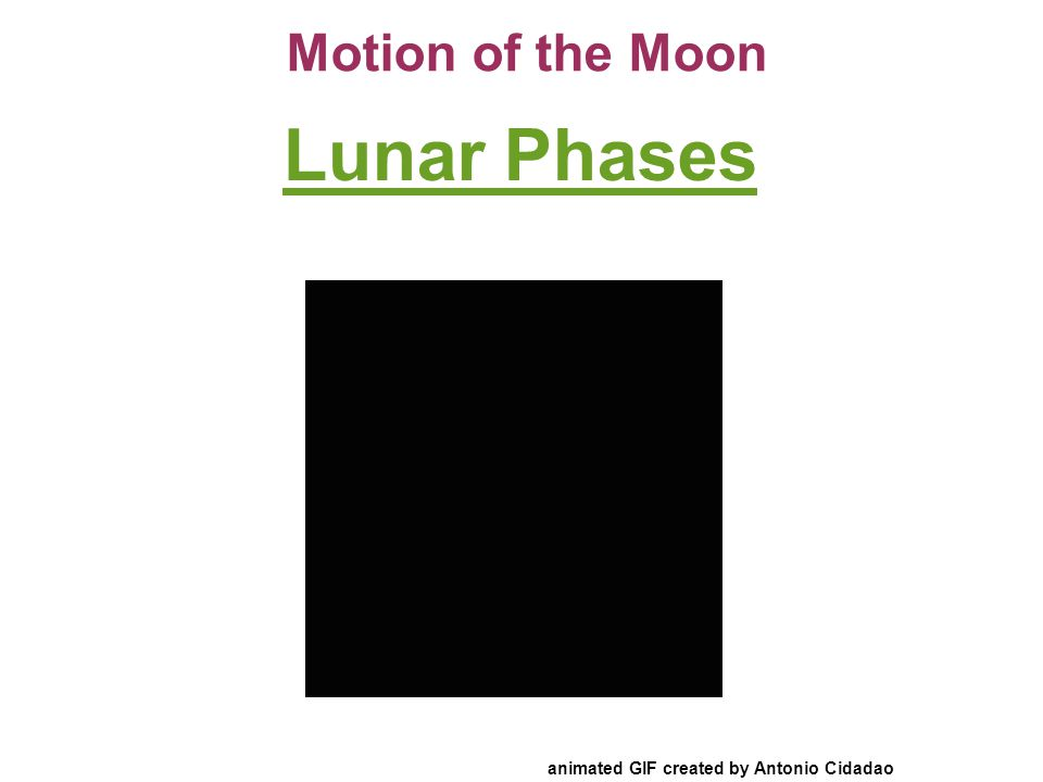 Motion of the Moon Lunar Phases animated GIF created by Antonio Cidadao