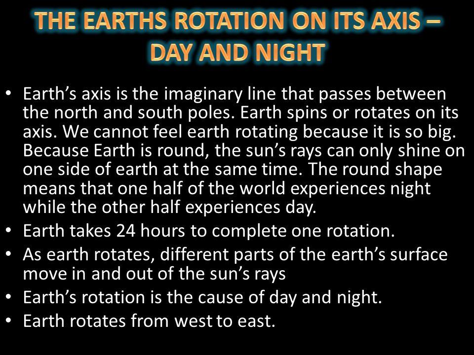 SUN EARTH EARTH's AXIS SUN RAYS