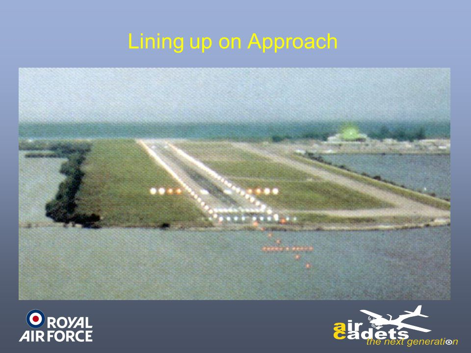 Lining up on Approach