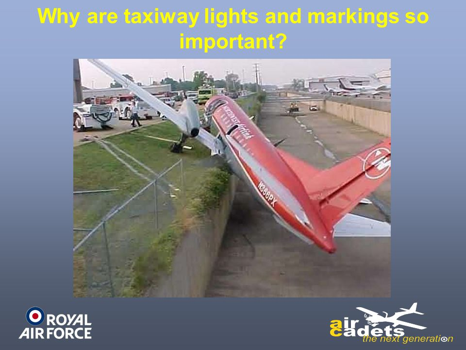 Why are taxiway lights and markings so important?