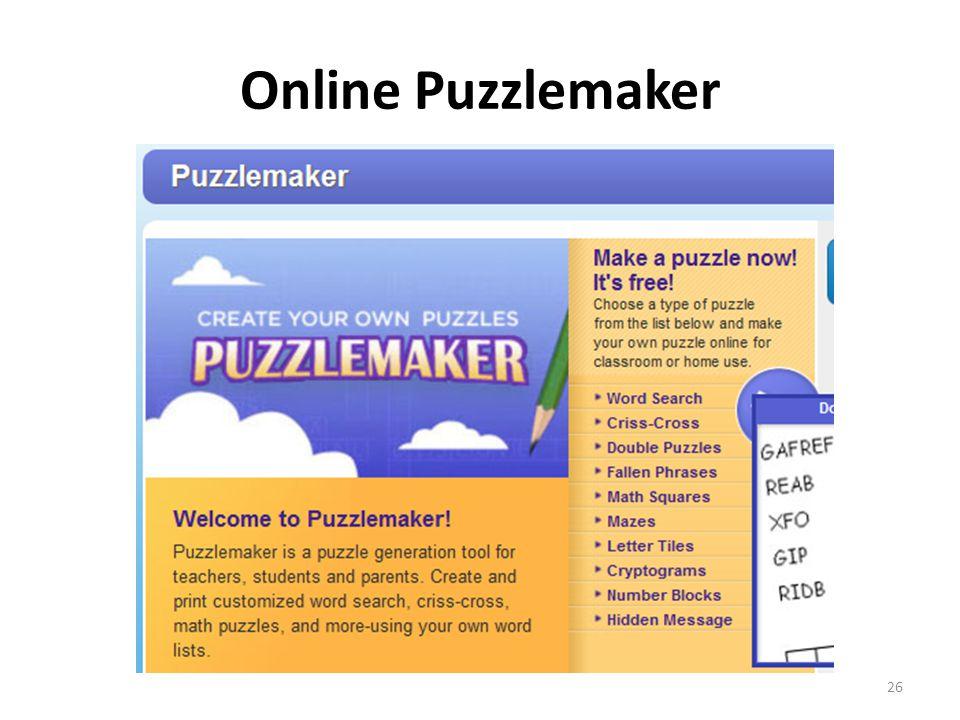 Online Puzzlemaker 26