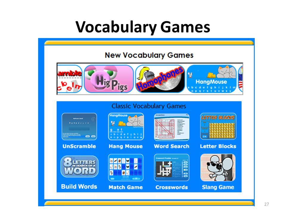 Vocabulary Games 27