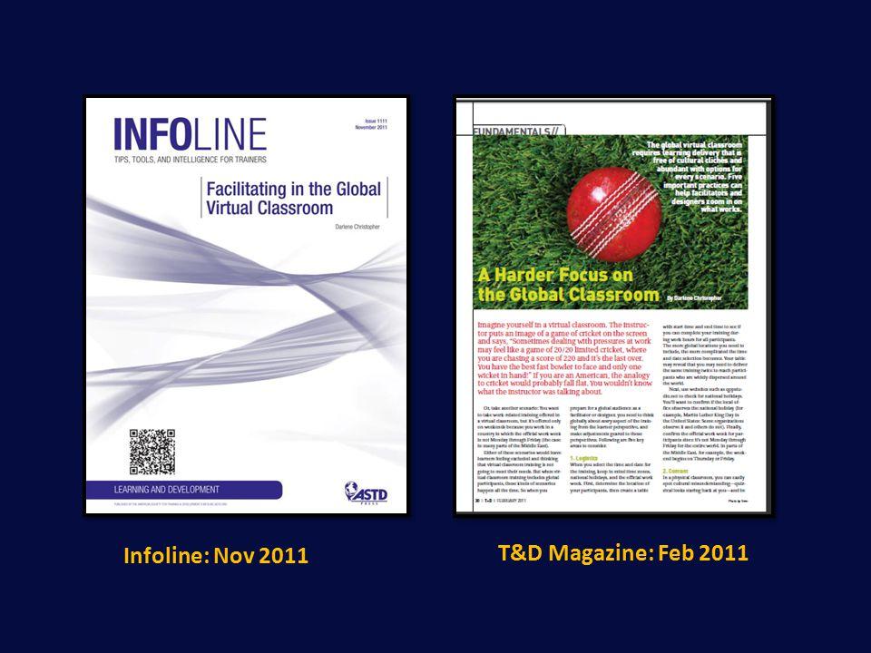 Infoline: Nov 2011 T&D Magazine: Feb 2011