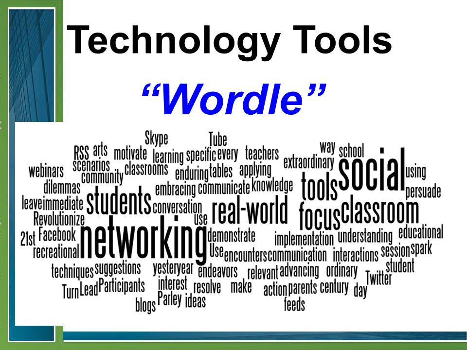 Technology Tools Wordle