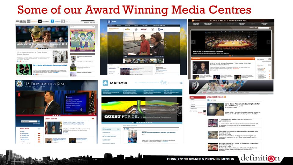 Some of our Award Winning Media Centres