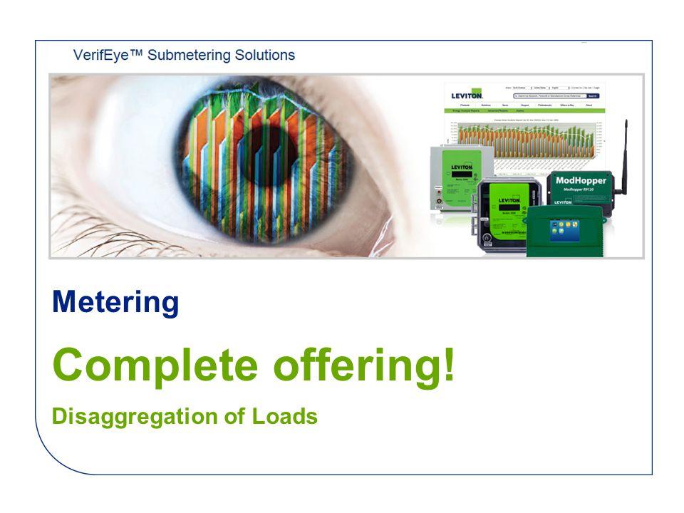 Metering Complete offering! Disaggregation of Loads