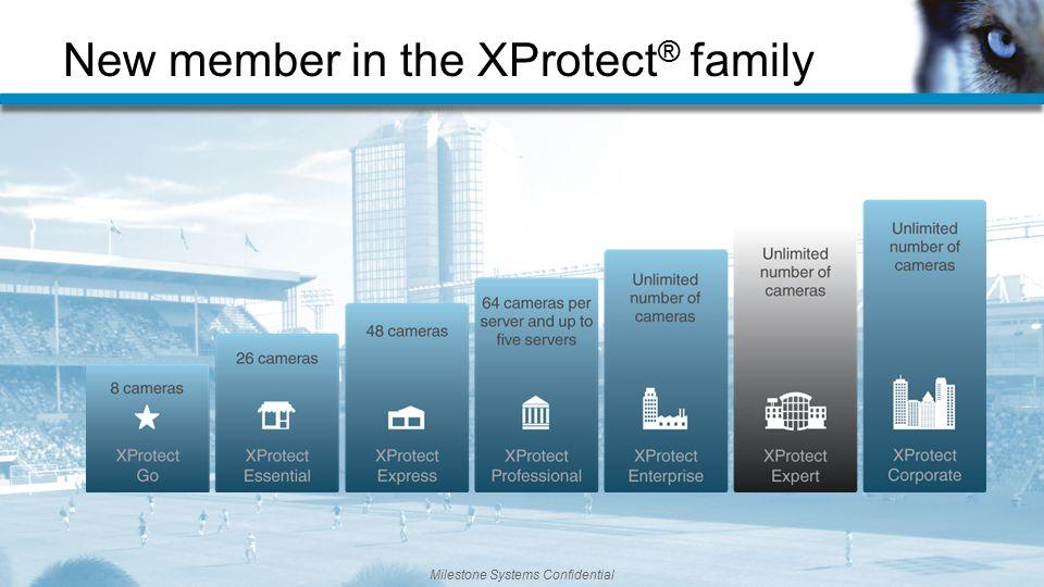 Milestone Systems Confidential New member in the XProtect ® family Milestone Systems Confidential