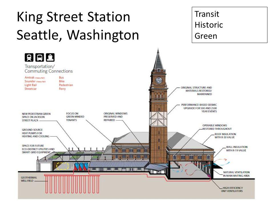 King Street Station Seattle, Washington Transit Historic Green
