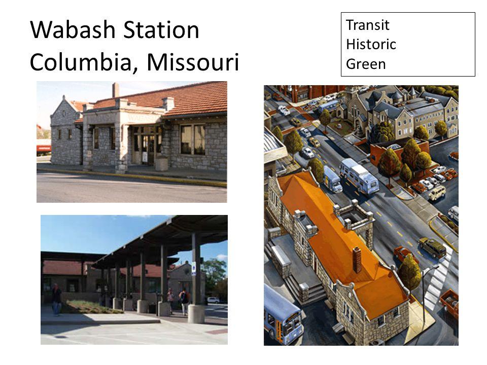 Wabash Station Columbia, Missouri Transit Historic Green