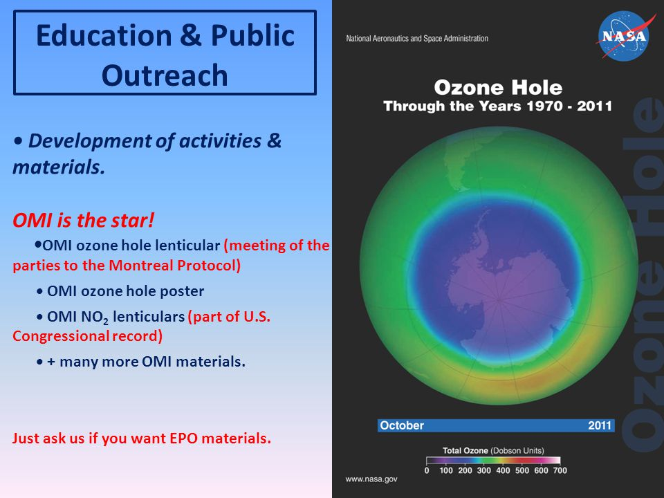 Education & Public Outreach Development of activities & materials.
