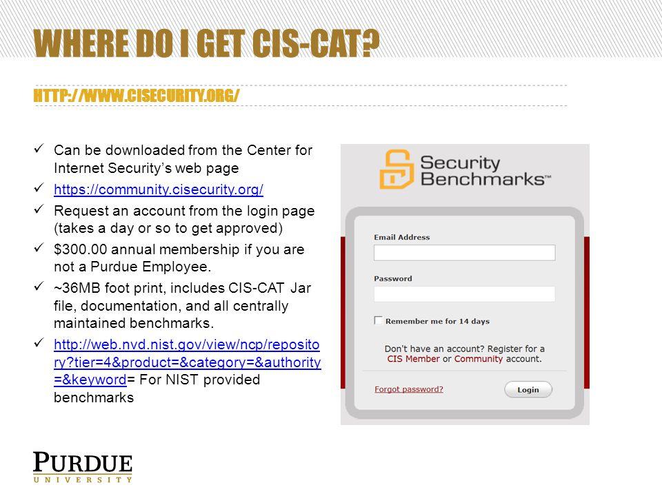 WHERE DO I GET CIS-CAT.