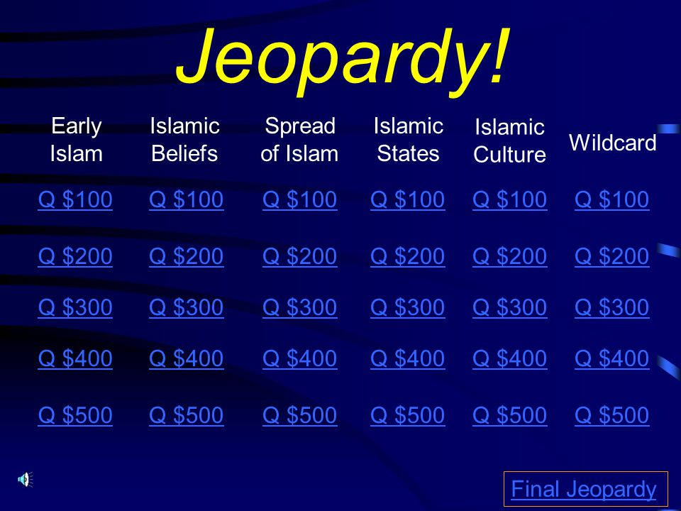 Jeopardy.