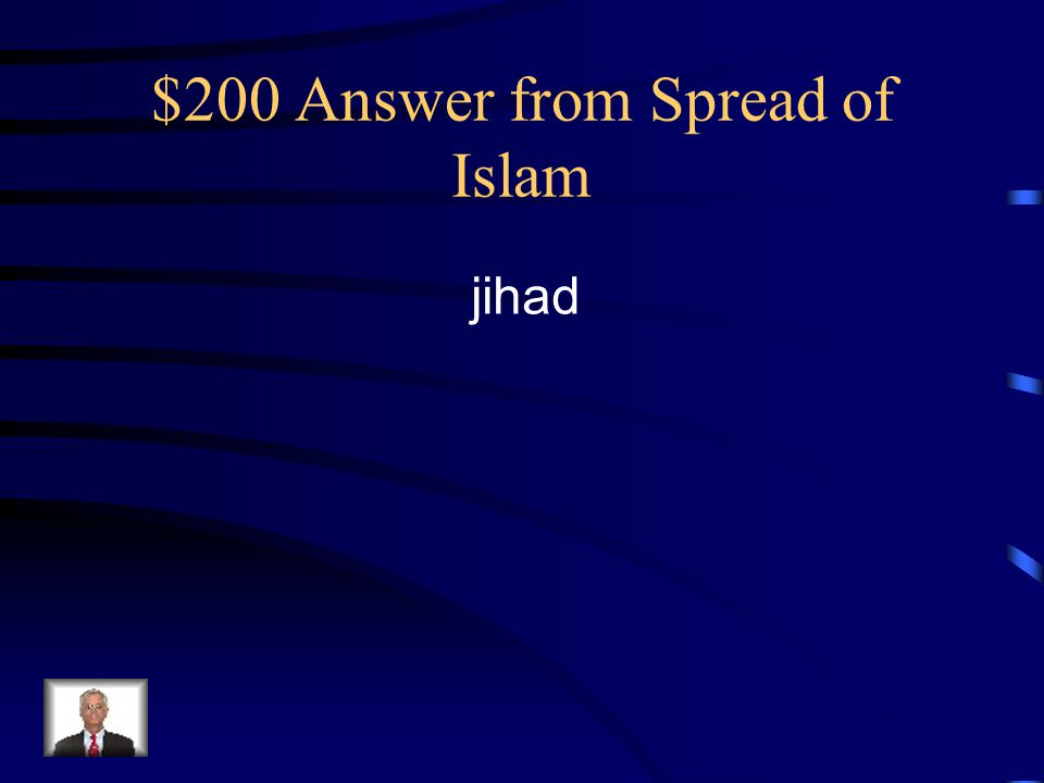 $200 Answer from Spread of Islam jihad