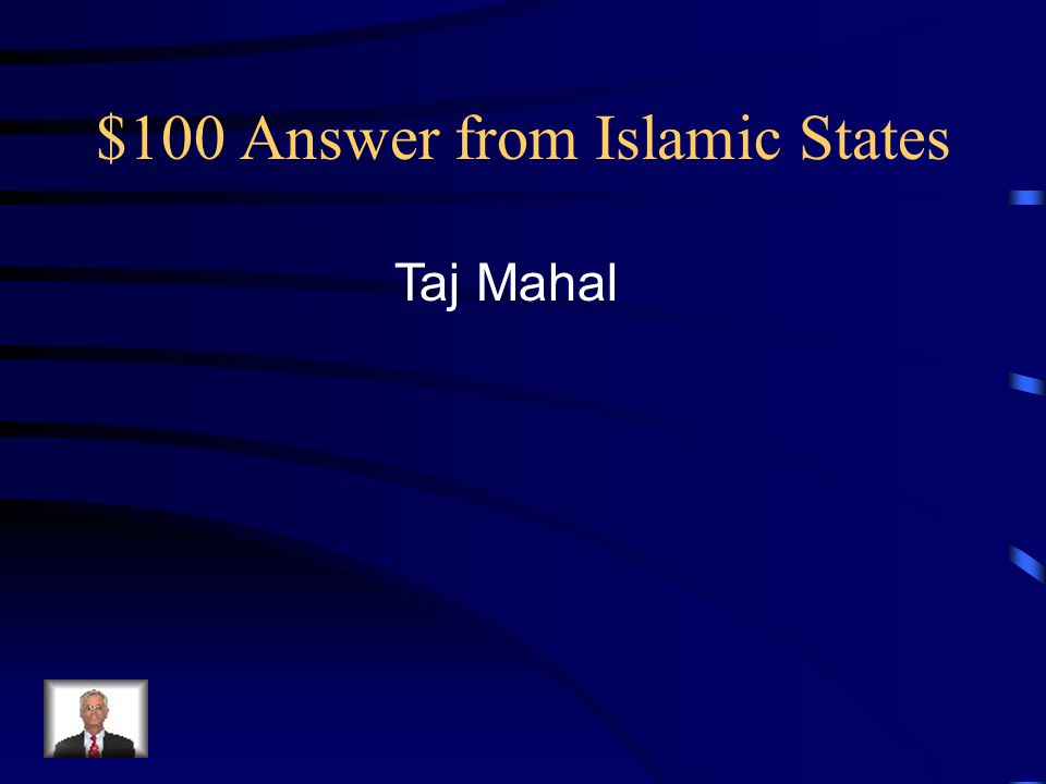 $100 Answer from Islamic States Taj Mahal