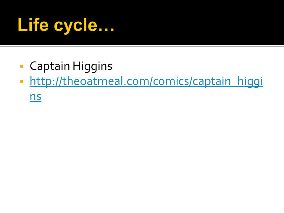  Captain Higgins  http://theoatmeal.com/comics/captain_higgi ns http://theoatmeal.com/comics/captain_higgi ns