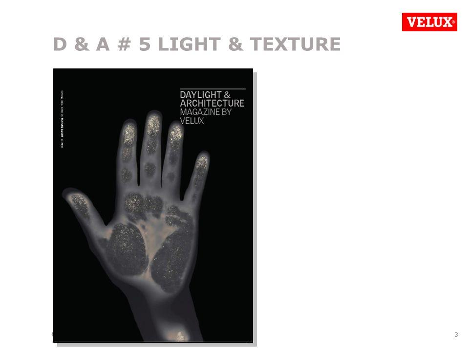 D&A SCO PRESENTATION/070523/LFE/REL/ 3 D & A # 5 LIGHT & TEXTURE