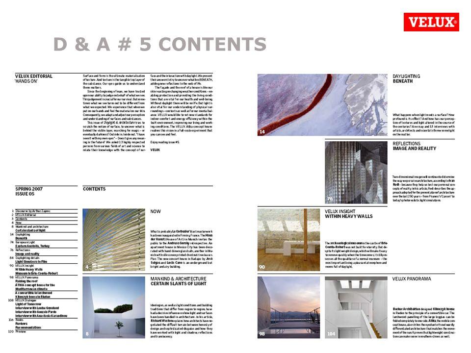 D&A SCO PRESENTATION/070523/LFE/REL/ 4 D & A # 5 CONTENTS